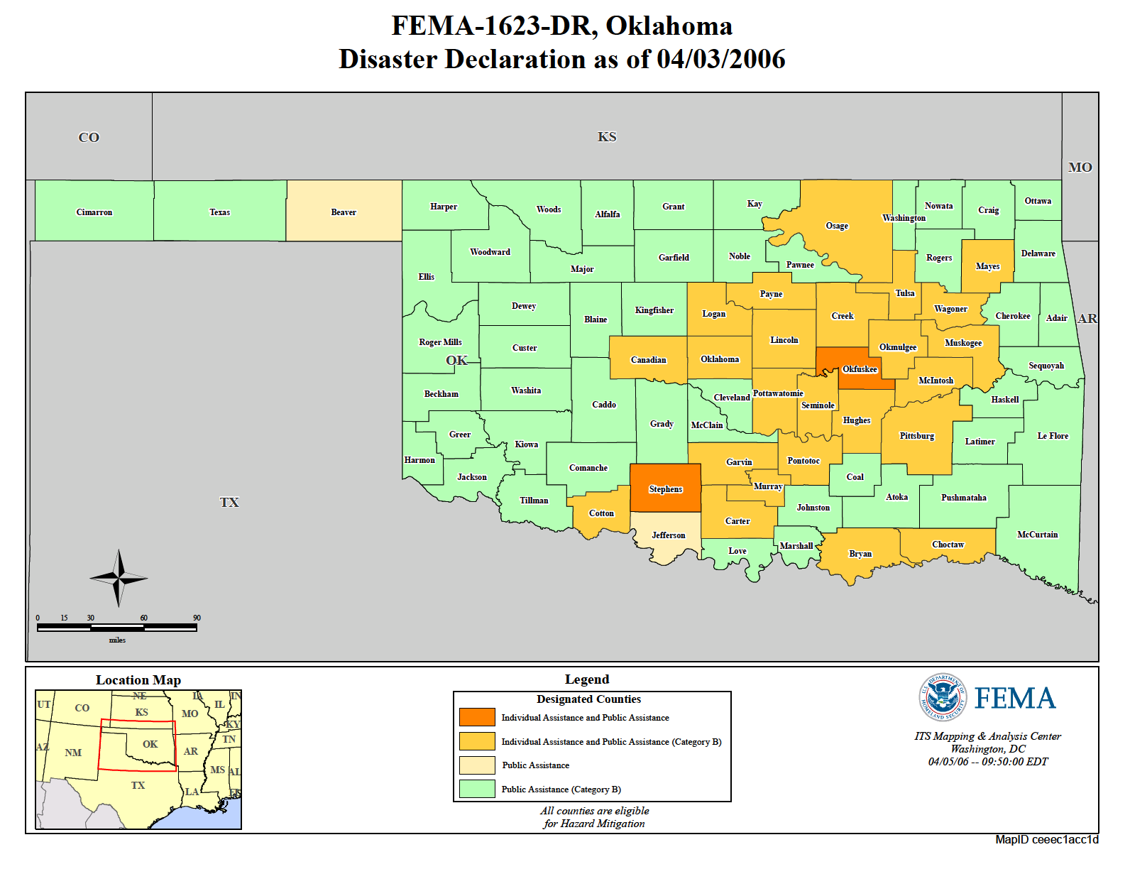 Oklahoma Severe Wildfire Threat (DR-1623) | FEMA.gov