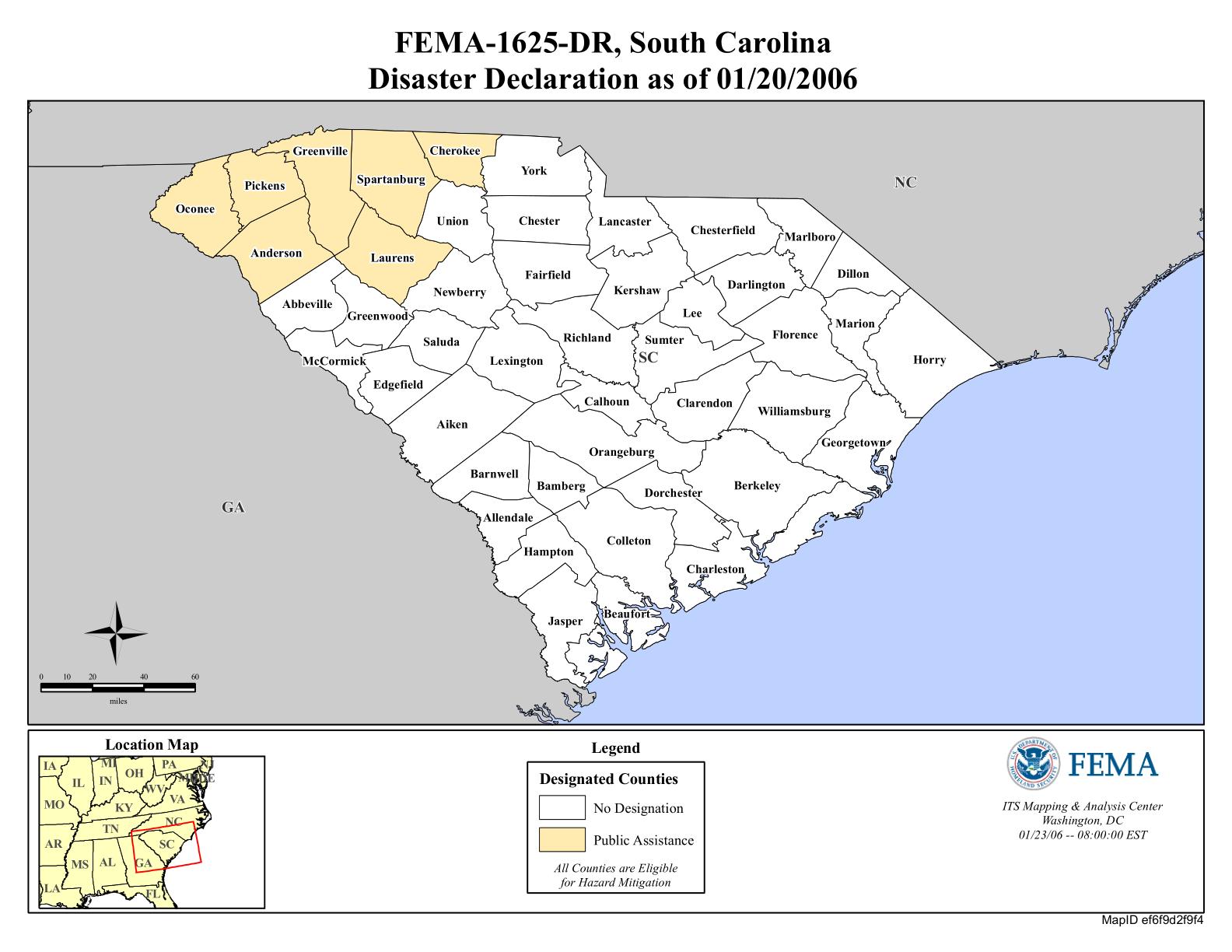 South Carolina Severe Ice Storm DR FEMAgov - Us gove ice map