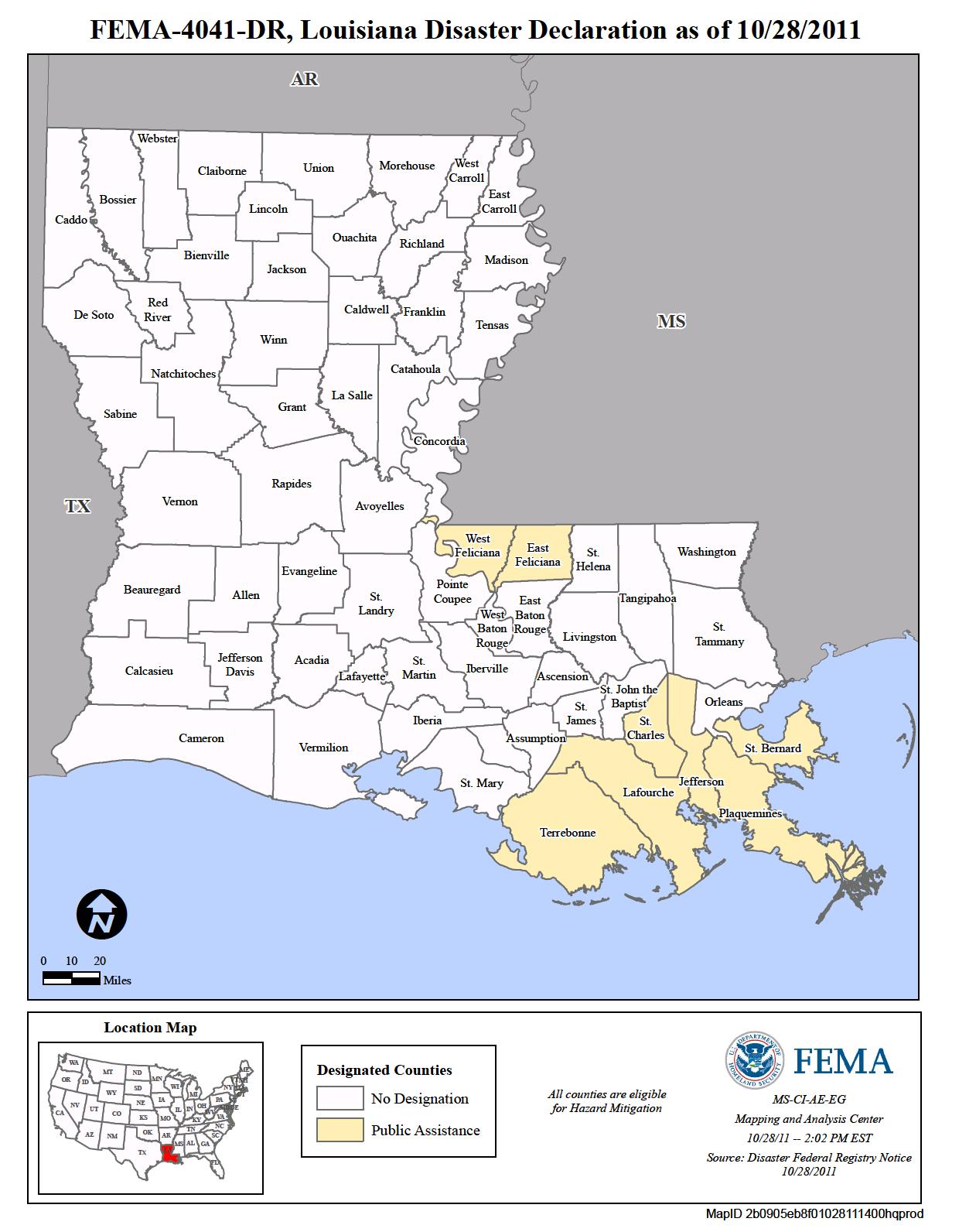 Louisiana Tropical Storm Lee DR4041 FEMAgov