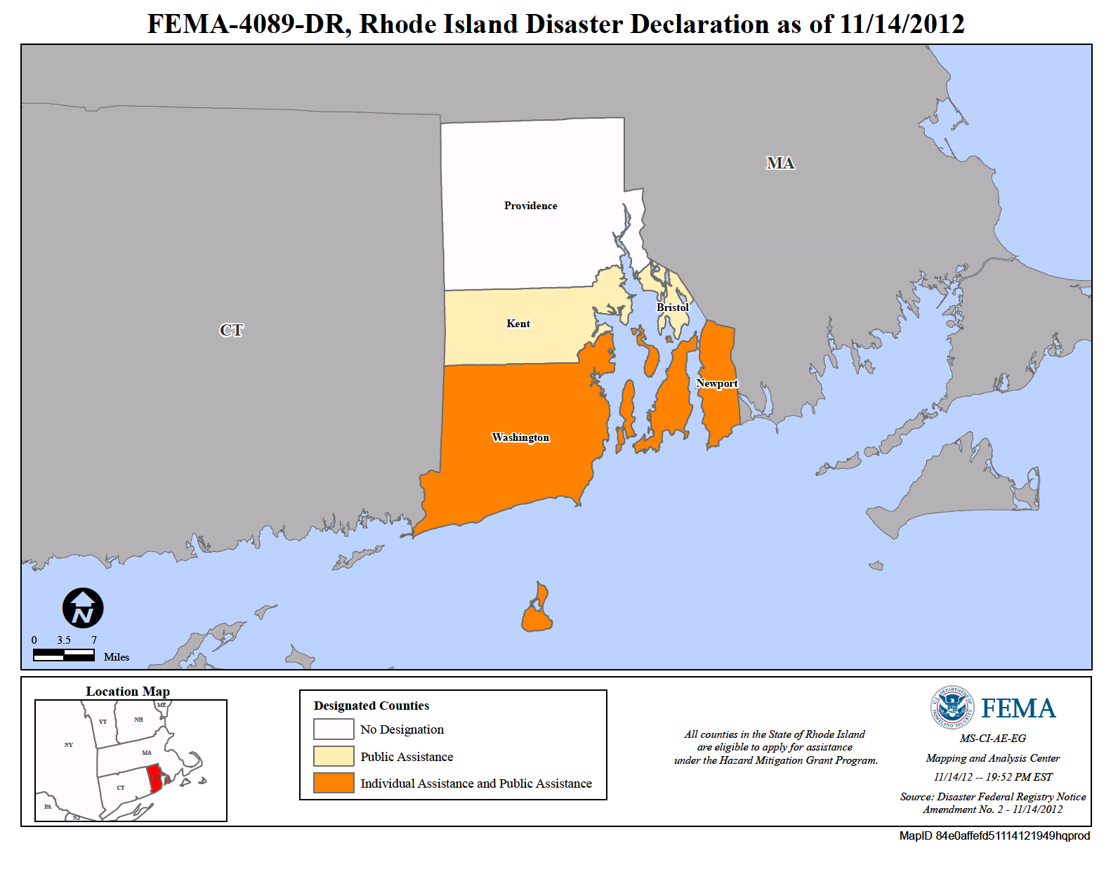 rhode island flood maps Rhode Island Hurricane Sandy Dr 4089 Fema Gov rhode island flood maps