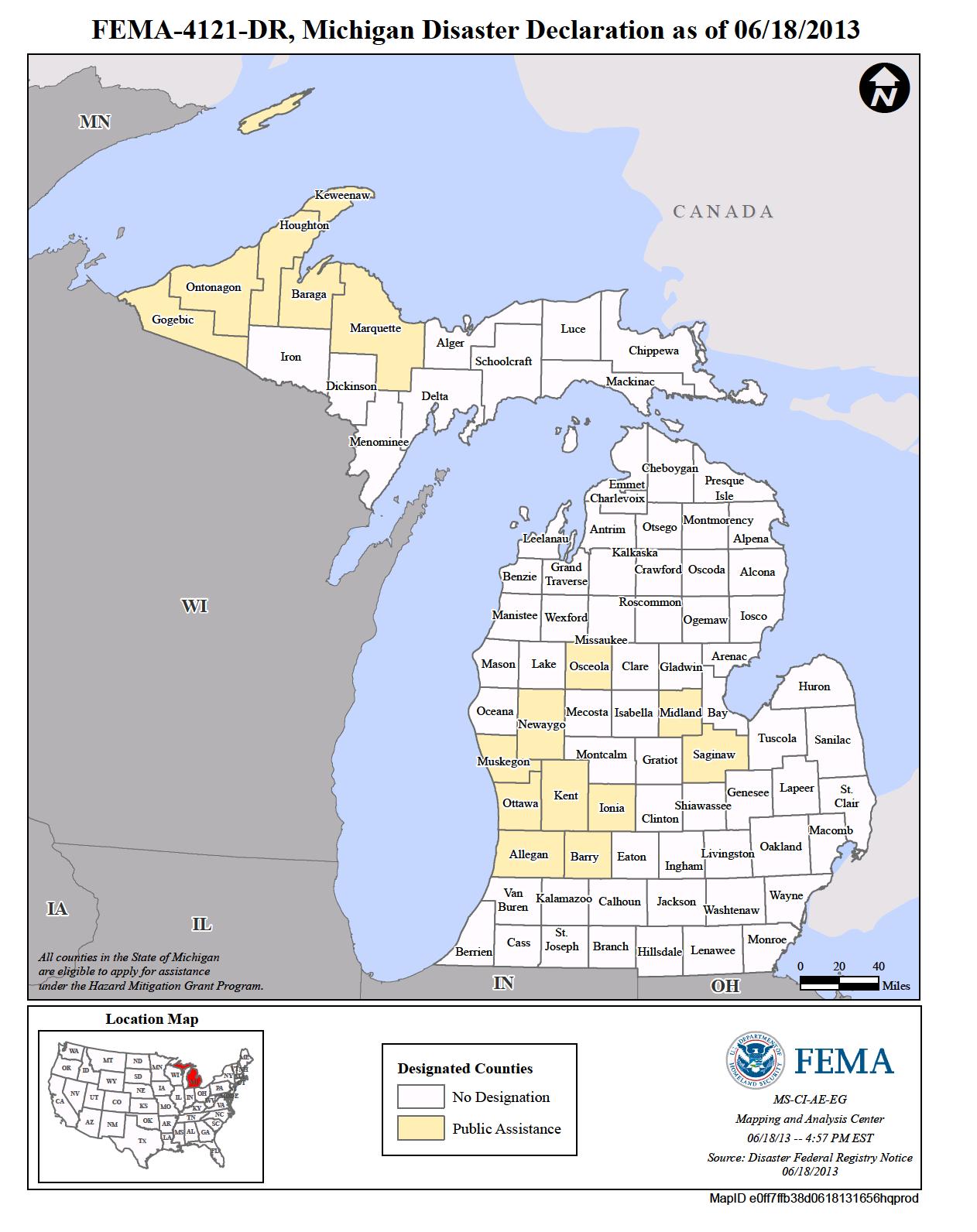 Michigan Flooding (DR-4121) | FEMA gov