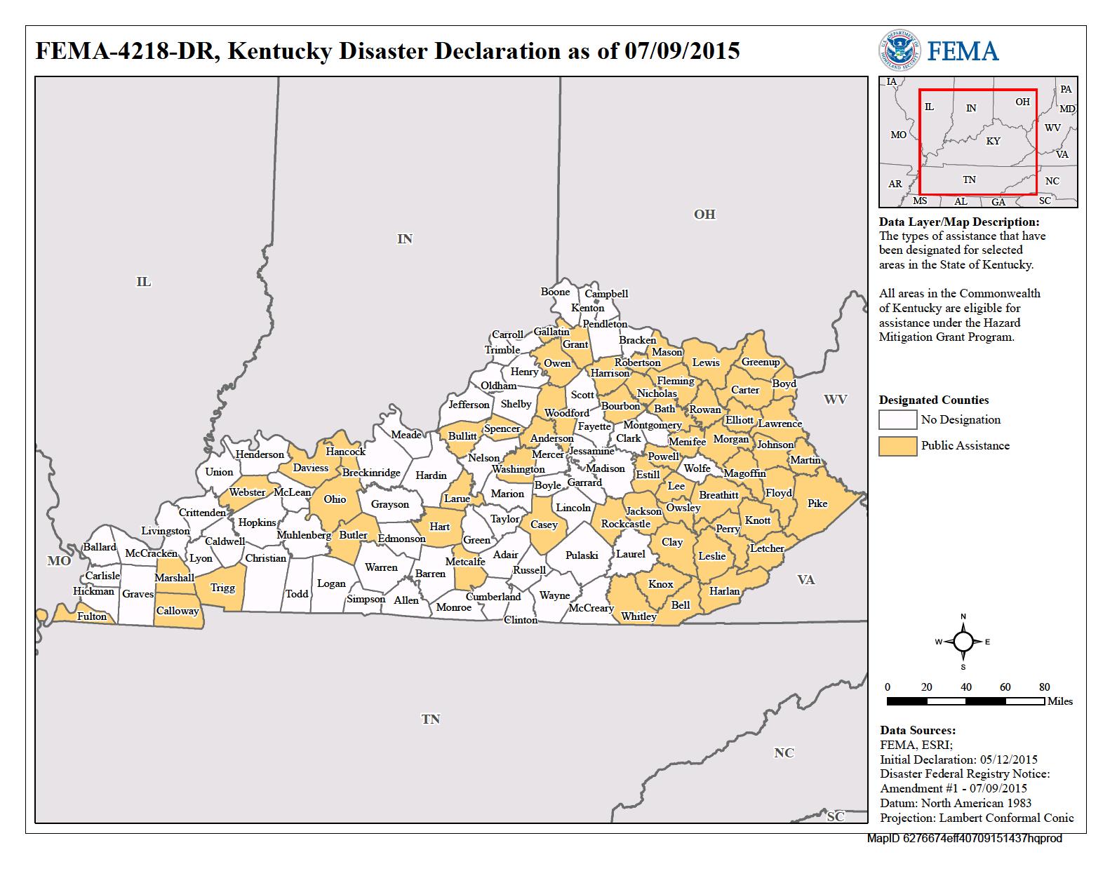 Kentucky Severe Winter Storm Snowstorm Flooding Landslides and
