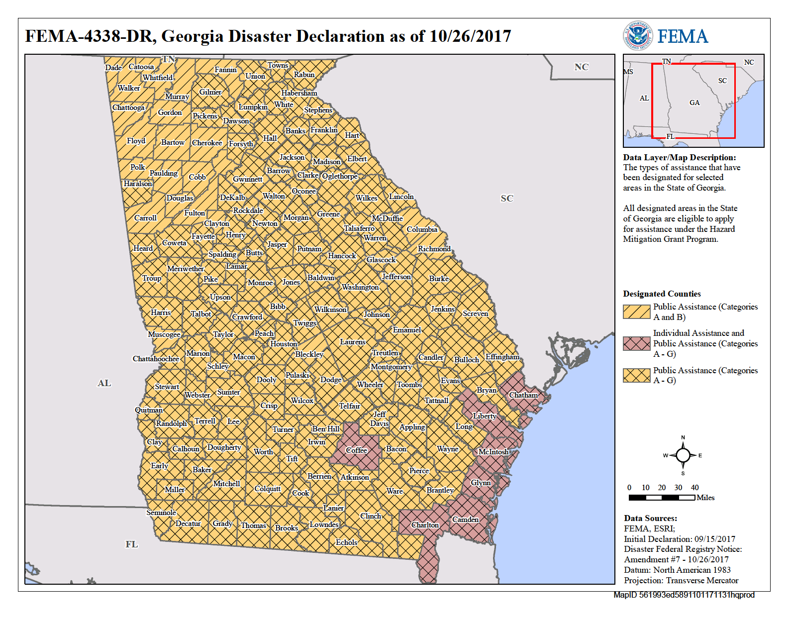 Georgia Hurricane Irma DR FEMAgov - Georgia map hurricane