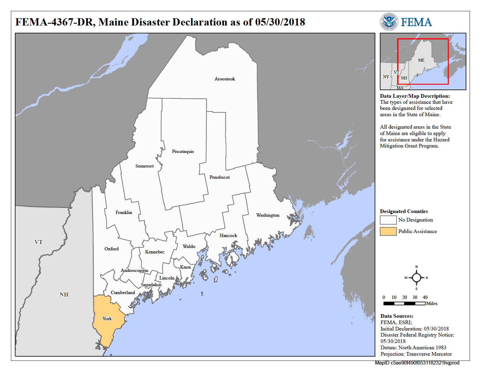 FEMA Declared disaster relief