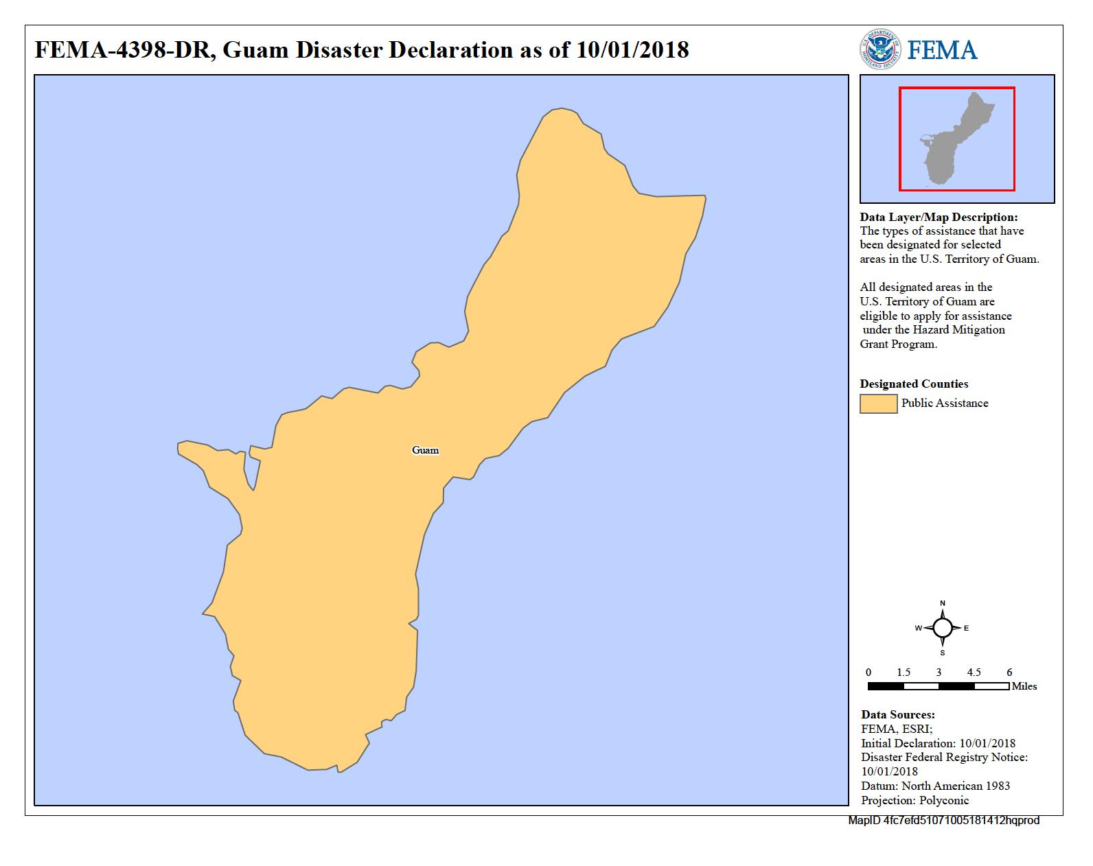 FEMA Declared disaster relief