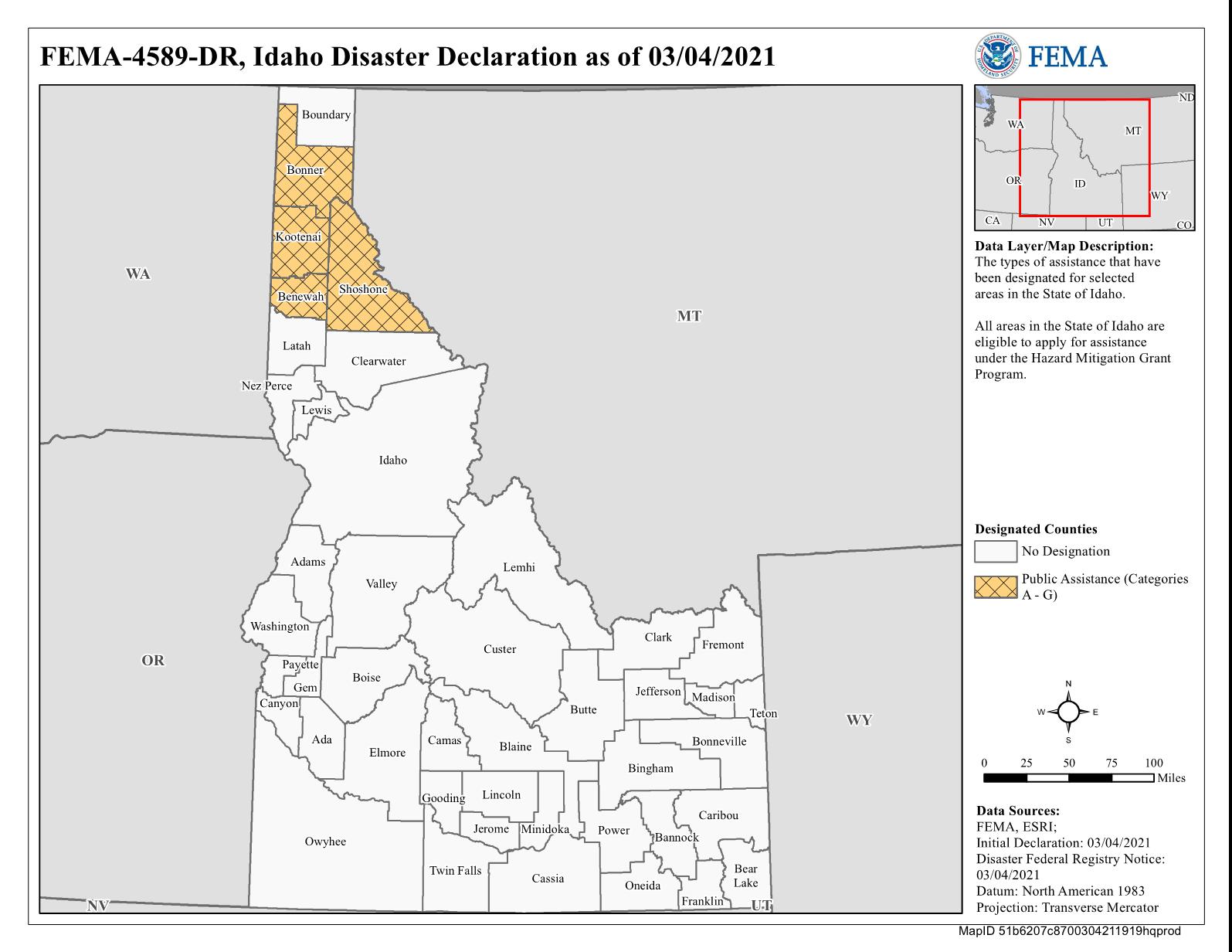 Map of Idaho