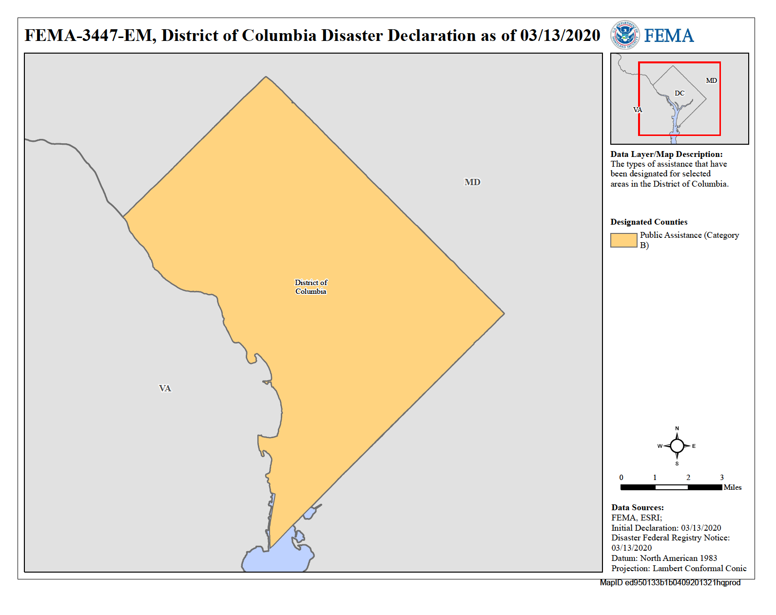 Map of District of Columbia (DC)